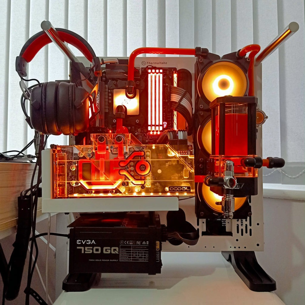 AMD Ryzen 7 Gaming Rig with Red Glow