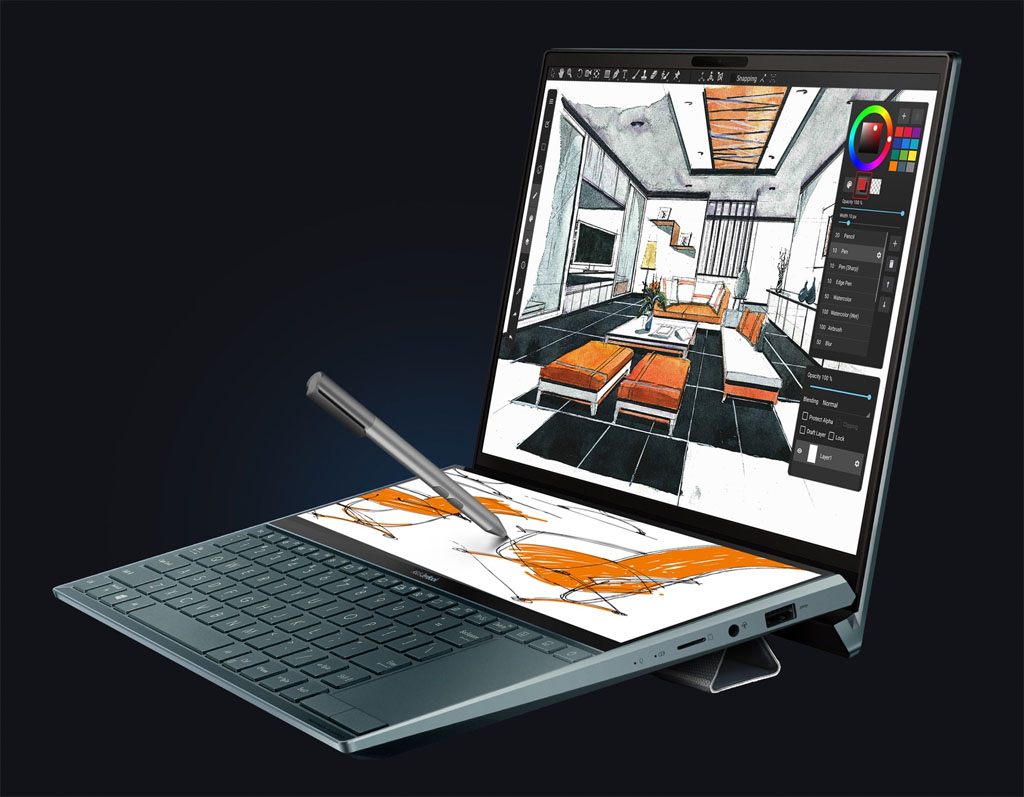 ASUS ZenBook Pro Duo with Stand and Stylus