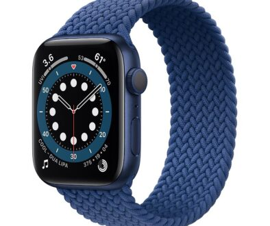Apple Watch S6 Aluminium Blue Braided Loop