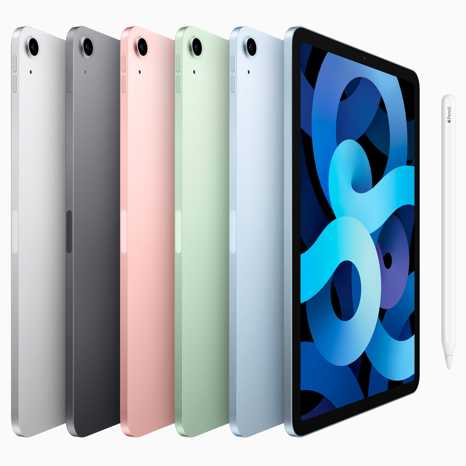 iPad Air 4th Gen in 5 Colour Options