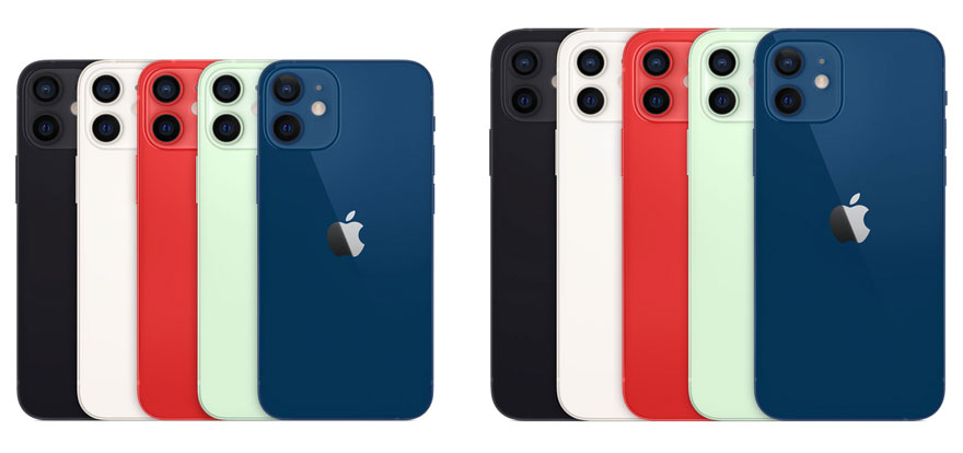 iPhone 12 mini and iPhone 12 colour options