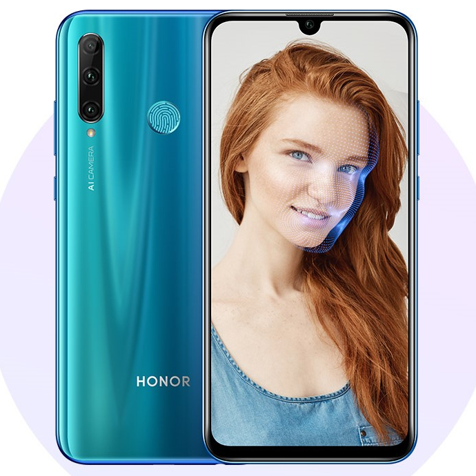 Honor 20e Fingerprint and Face Unlock
