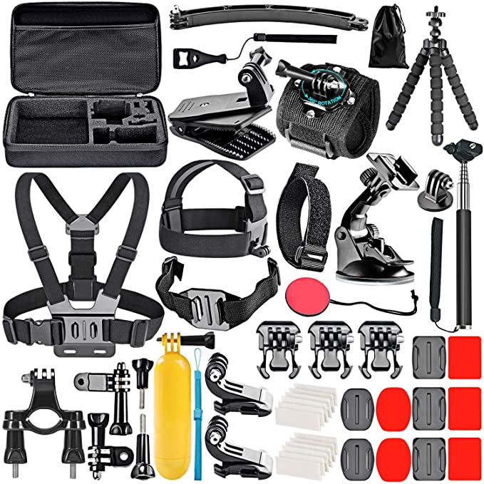 Neewer 50 in 1 GoPro Compatible Accessories Kit